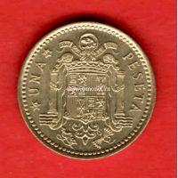 Испания монета 1 песет 1966 года.