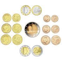 Люксембург годовой набор 9 монет 2019 года 2,1 евро 50,20,10,5,2,1 цент.