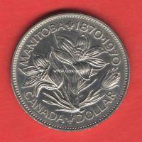Канада 1 доллар 1973 года 100 лет присоединения Манитобы.