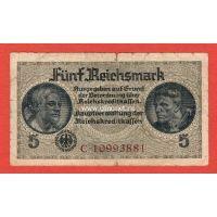 Германия 5 рейхсмарок 1939 года.