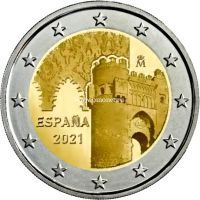 Испания 2 евро 2021 года Исторический город Толедо