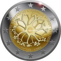 Кипр 2 евро 2020 года 30-летие Кипрского института неврологии и генетики
