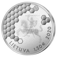 Литва 1,5 евро 2020 года Бортевое пчеловодство.