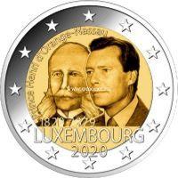 Люксембург 2 евро 2020 года 200 лет со дня рождения Генриха Оранско-Нассауского.