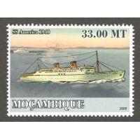 Мозамбик почтовая марка 2009 года Корабль.