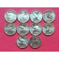 Перу набор 10 монет 1 соль Красная книга. 2017-2019.