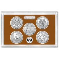 США годовой набор монет 25 центов 2020 года Proof Set.