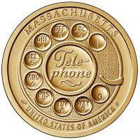 США 1 доллар 2020 года Инновация Телефон Массачусетс.