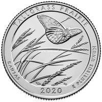 США 25 центов 2020 года 55 парк Заповедник Талльграс.