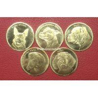 Сомалиленд набор 5 монет 5 шиллингов 2019 года Собаки.