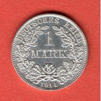 Германия 1 марка 1914 года.