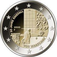 Германия 2 евро 2020 года 50 лет коленопреклонения в Варшаве.