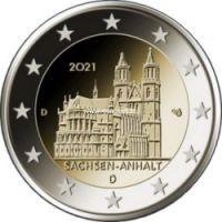 Германия 2 евро 2021 Магдебургский собор