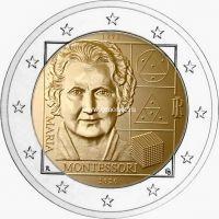 Италия 2 евро 2020 Мария Монтессори.
