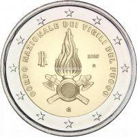 Италия 2 евро 2020 года Национальный корпус пожарных Италии.