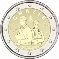 Италия 2 евро 2021 года Медицинские профессии
