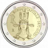 Италия 2 евро 2021 года 150 лет объявления Рима столицей Италии
