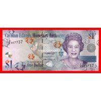 Каймановы острова банкнота 1 доллар 2018 года.