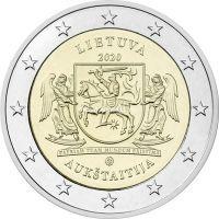 Литва 2 евро 2020 года Аукштайтия.