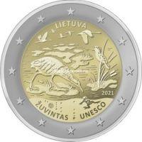 Литва 2 евро 2021 года Биосферный резерват Жувинтас
