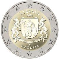 Литва 2 евро 2021 года Регион Дзукия