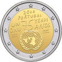 Португалия 2 евро 2020 года 75 лет ООН