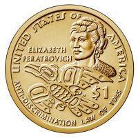 США 1 доллар 2020 года Элизабет Ператрович.
