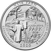 США 25 центов 2020 года 52 Национальный Музей Вейр-Фарм.