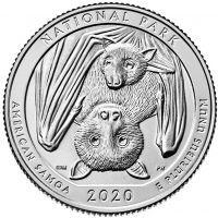 США 25 центов 2020 года 51 Национальный парк Американского Самоа