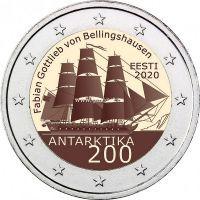 Эстония 2 евро 2020 года 200 лет со дня открытия Антарктиды.