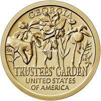 США 1 доллар 2019 года Попечительские сады.