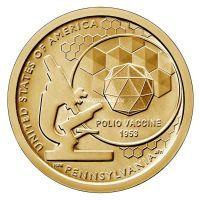 США 1 доллар 2019 года Вакцина полиомиелита.