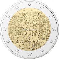 Франция 2 евро 2019 года 30 лет падения Берлинской стены