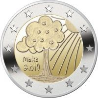 Мальта 2 евро 2019 года Природа и окружающая среда.