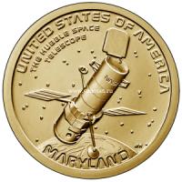 США 1 доллар 2020 года Телескоп Хаббл Инновация Мэриленд.