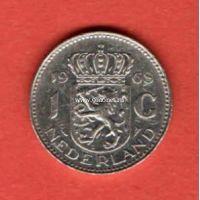 Нидерланды 1 гульден 1968 года.