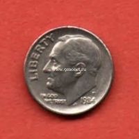 США 10 центов 1984 года