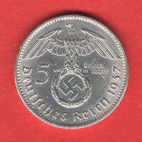 Германия монета 5 рейхсмарок 1937 года III Рейх.