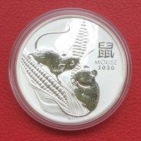 Австралия 50 центов 2020 Год Крысы (Мыши). серебро 1/2 унции
