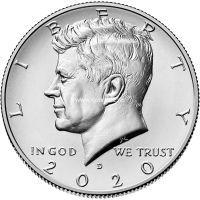 США 50 центов 2020 года Кеннеди Half Dollar
