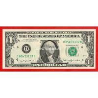США банкнота 1 доллар 1977 (D-Кливленд)