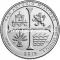США 25 центов 2019 года 49 парк Сан-Антонио Миссии.